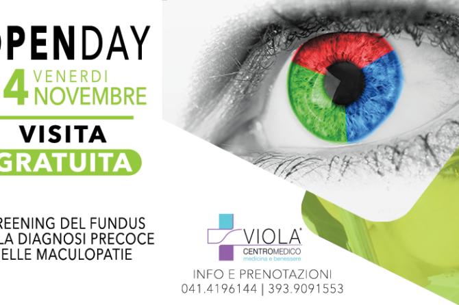 OPEN DAY OCULISTICA – 24 NOVEMBRE – VISITA GRAUTITA