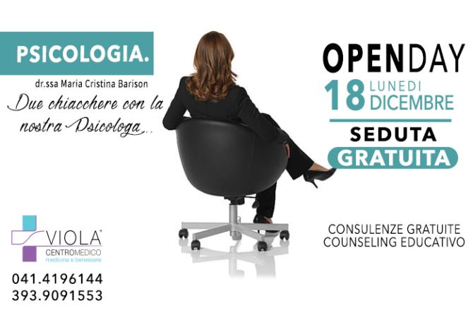 OPEN DAY PSICOLOGIA – 18 DICEMBRE – SEDUTA GRATUITA